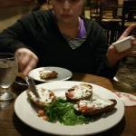 enjoying the grub