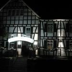 Die Pfannkuchen Mühle bei Nacht