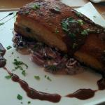 Pork belly with creamed red cabbage
