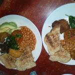 2 modified meals to suit our needs