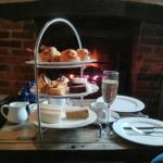 Afternoon tea by the fire, bliss!