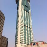 Una de las torres del hotel
