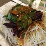 This is a version of som tum (Thai papaya salad) that has a unique twist! Insany good!