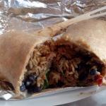 Standard burrito - whole wheat wrap!