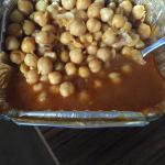 This is supposed to be the chole...basically chickpeas in broth, very disappointed.