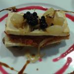"""Un pastel de champiñones con caviar """"Gaia"""""""