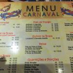 Cardápio mais caro só para o período do carnaval  Imagina se tivesse algum carnaval próximo ?!