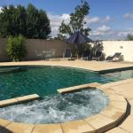 Heated outdoor pool and spa