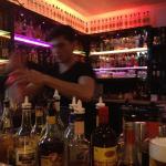 Fast working bar tender