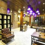 Within restaurant area