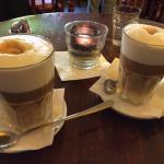 Soya vanilla lattes