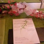 Mesa preparada para San Valentín
