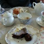 Lovely hot chocolate and cake