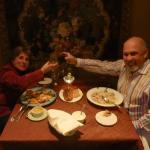 A toast to the Flora's Italian Cafe team.