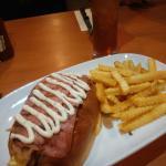 Turkey strip sandwich with fries RM20