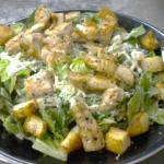Caesar Salad with Seasoned Chicken