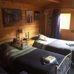 Twin wood cabin