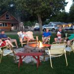 Join friends at the firepit in the evening.