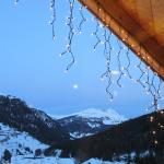Full moon and fairy lights