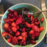 Fresh berries -- yum!