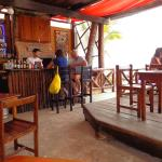 the bar, and open to the beach