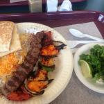 So good. Beef kabob with chicken.