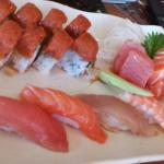 Lunch special with sashimi add on. Love the chunks rather than slices!