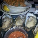 Dz oysters and fried crawfish