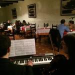 Cena amenizada por violín y piano