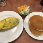 Denver Omelet, Pancakes, Fruit