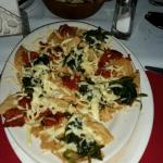 Mexican pizza chorizo queso and spinach. The best#!!