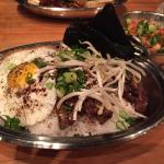 Korean BBQ rice bowl