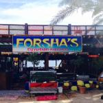 Forsha's (2 minute walk from the bridge, heading towards the lighthouse)