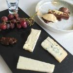 Selection of three cheeses - yum!