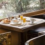 petit dejeuner terrasse couverte