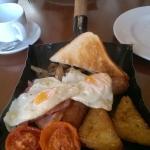 Breakfast on a shovel