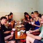 Family dinner! Great way to get to know other travelers