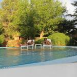 relajados en la piscina
