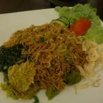 Stir-fried vegetables with rice noodles