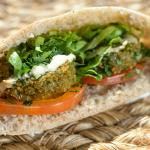 Our Bestseller - the falafel pita.