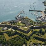 Vue aérienne de la Citadelle Vauban et sa fortification