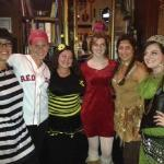 Our fabulous staff on Halloween
