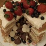 'Best of both cake', healthy fruit on the outside, yummy chocolate erupting from the inside!