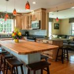 Cottage kitchen seats for 10
