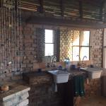 Loved the modern yet rustic, spacious bathroom.
