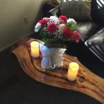 Flowers and candles included in the romance package