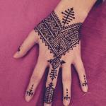 Powerful henna design.