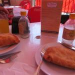 deep fried empanadas and menu