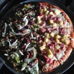 1/2 Mediterranean 1/2 Hawaiian Pizza