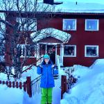 Me in front of Point North Hostel